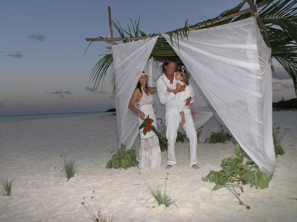 Gazebo Matrimonio Spiaggia : Un matrimonio alle maldive